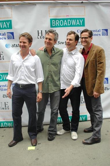 The Cast of Promises, Promises-Peter Benson, Ken Land, Brooks Ashmanskas and Sean Martin Hingston