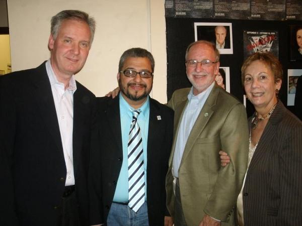 Steven Peterson, Richard Perez, George and Susan Van Dusen