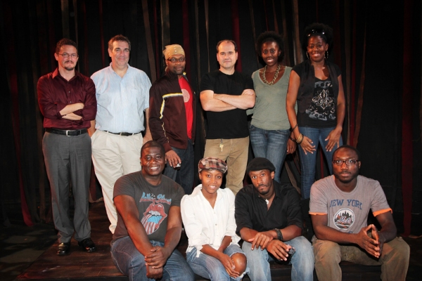 "David Brown, Jr., Shannon A.L. Dorsey, Daniel Morgan Shelley, David King (L-R back row) author Christopher Stokes, playwright Jeff Cohen, Rawle â€Å""Fitzâ€Â� Williams, director Alfred Preisser, Tyshawna Maddox, Tracy Jack"