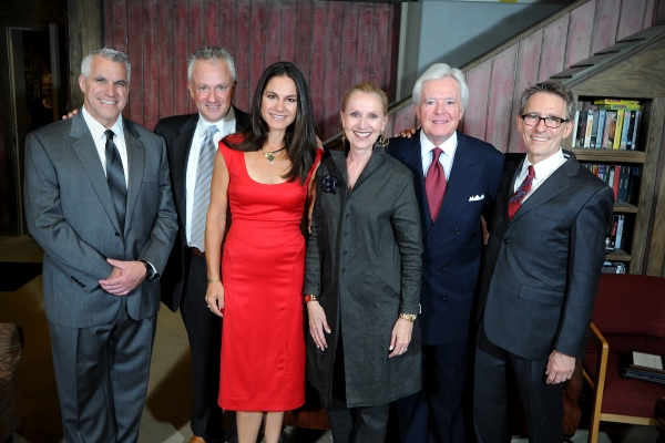 Michael Ross, Westport Country Playhouse managing director; Niv and Kim Harizman, gala chairs; Kate and Bob Devlin, Mark Lamos