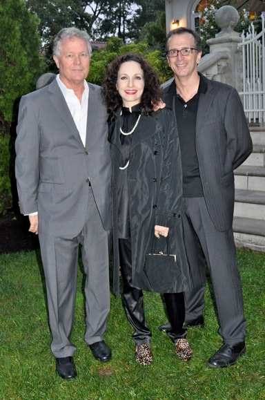 Chris Caulkins, Bebe Neuwirth and Tim Pinckney (Actors Fund)