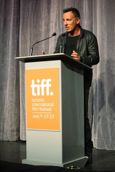 Bruce Springsteen  at Toronto International Film Fest. 'Promise' Presentation