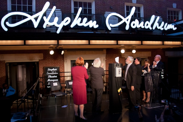 Photo Coverage: Stephen Sondheim Theatre Unveiled!