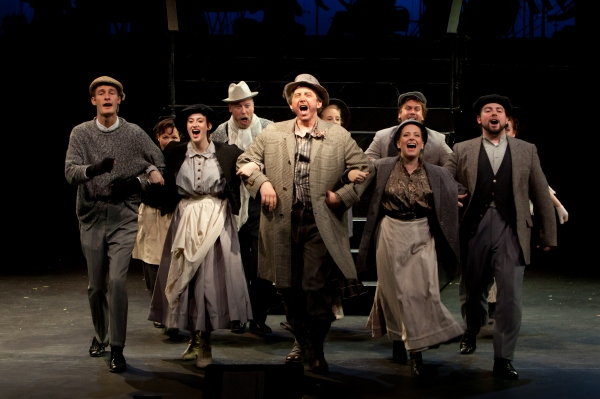 George Roth and the chorus at Beck Center Presents MY FAIR LADY