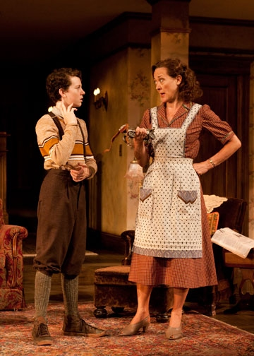 Austyn Myers as Eugene Jerome and Karen Ziemba as Kate Jerome Photo