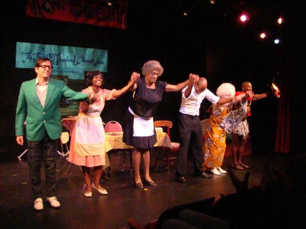 Curtain Call from 'Raisinet in the Sunshine': David Ilku, Rosa Currie, Flotilla DeBarge, Kyle Grooms, Jodi Lennon, and Clark Beasley