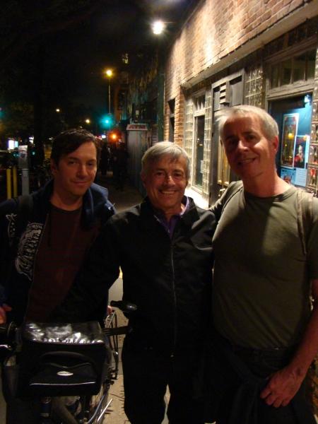 David Ilku, restaurateur Florent Morellet, and director Kevin Maloney