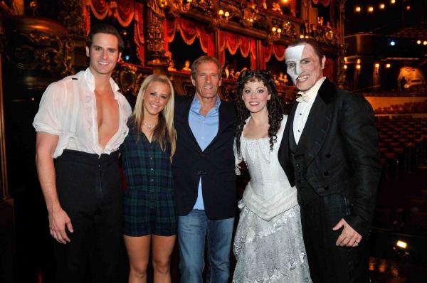 Andrew Ragone, Chelsie Hightower, Michael Bolton, Kristi Holden, Anthony Crivello at Michael Bolton and DWTS Partner Chelsie Hightower Attend PHANTOM in Las Vegas