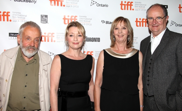 Mike Leigh, Lesley Manville, Ruth Sheen, and Jim Broadbent