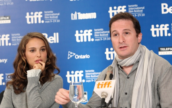 Natalie Portman and Darren Aronfsky at BLACK SWAN Press Conference at the Toronto International Film Festival