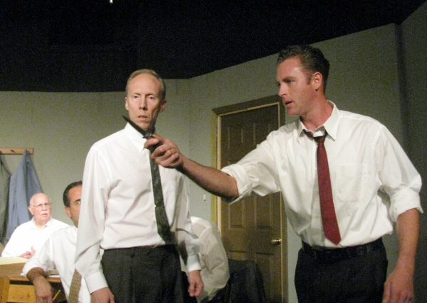 John Helmke and Ken Ammerman with Alex Campbell and Vincent Pileggi  at 12 ANGRY MEN