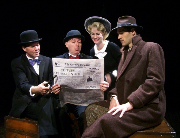 Cameron Folmar, Jamie Jackson, Kate MacCluggage and John Behlmann at THE 39 STEPS Plays 1000th Performance In NYC