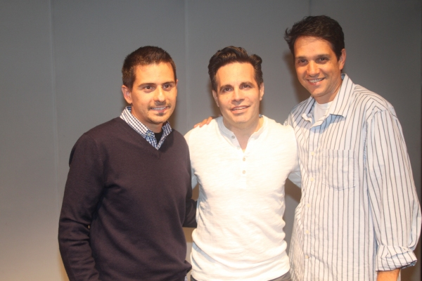 Writer Charles Messina, Ralph Macchio and Mario Cantone Photo