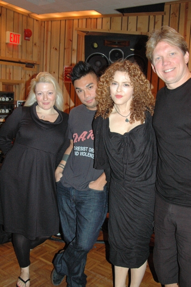 Lynn Pinto, Andros Rodriguez, Bernadette Peters and Rob Bowman at Peters & WEST SIDE STORY Sing 'Carols For A Cure'