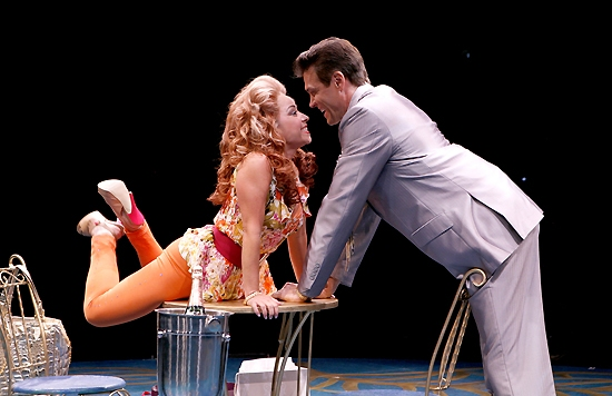 Jennifer Cody and Brent Barrett at Dirty Rotten Scoundrels at North Shore Music Theatre