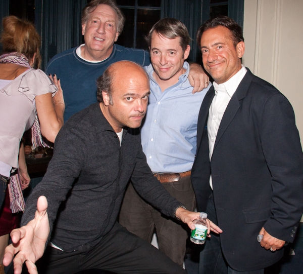 Alan Zweibel, Scott Adsit, Matthew Broderick and Eugene Pack