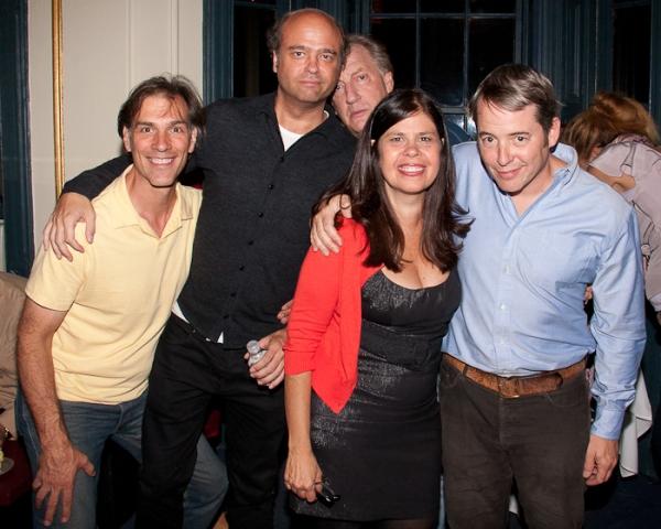 Angelo Fraboni, Scott Adsit, Alan Zweibel, Dayle Reyfel, and Matthew Broderick