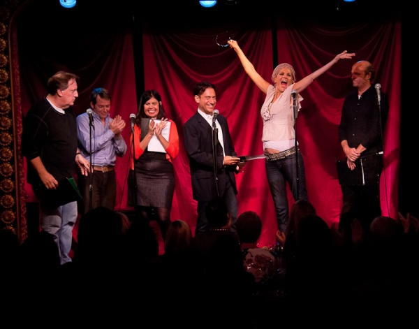 Alan Zweibel, Matthew Broderick, Dayle Reyfel, Eugene Pack, Kristen Johnston and Scott Adsit