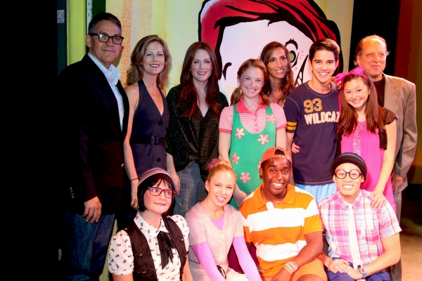 Buddy Crutchfield, Gail Pennington Crutchfield, Julianne Moore, Hayley Podschun, Rose Caiola, Andrew Cristi, Kimiko Glenn, Gary Kupper, Linda Gabler, Jessica Bishop, Mykal Kilgore and Joey Haro at Julianne Moore Promotes FRECKLEFACE STRAWBERRY Musical!