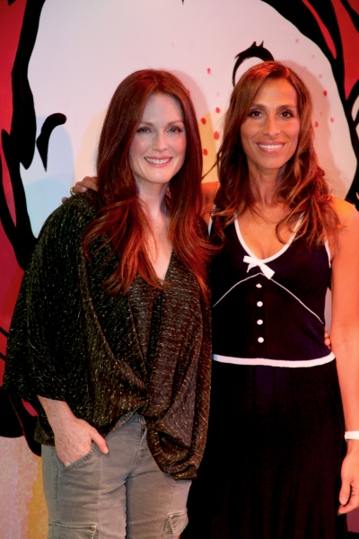 Julianne Moore and Rose Caiola at Julianne Moore Promotes FRECKLEFACE STRAWBERRY Musical!