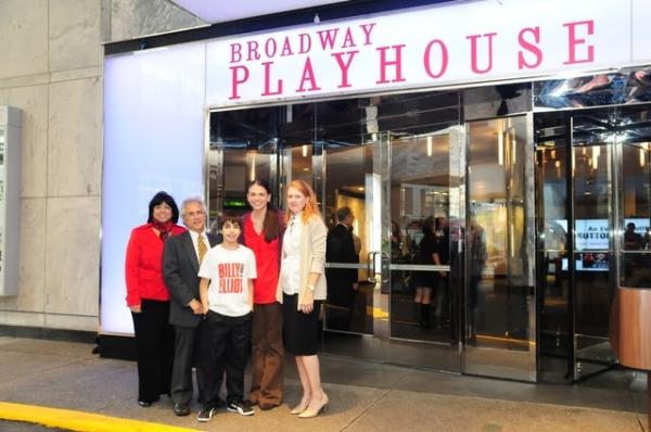 Eileen LaCario (Vice President, Broadway In Chicago), Lou Raizin (President, Broadway Photo