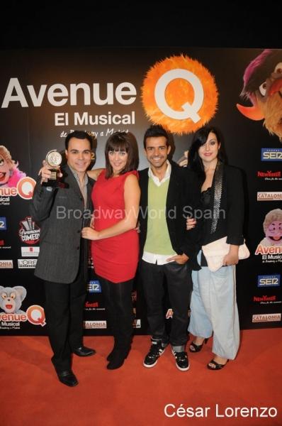 Antonio Garde, Isabel Malavia, Miguel Antelo e Ines Leon