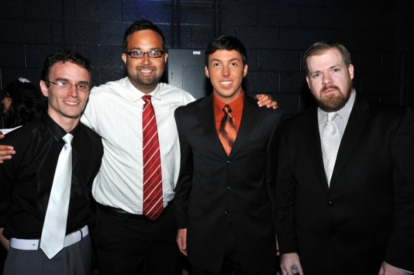 Alan Smith, Tyson Laemmel, Darin Richardson and Joshua Waldrep at Backstage at the First Night Nashville Theatre Honors