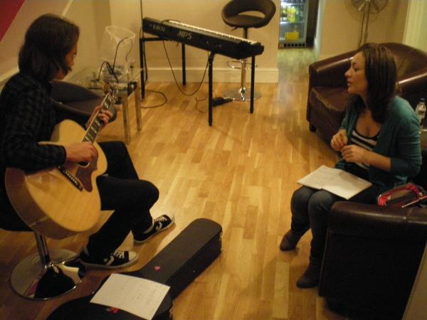 Lauren James-Ray practises her song