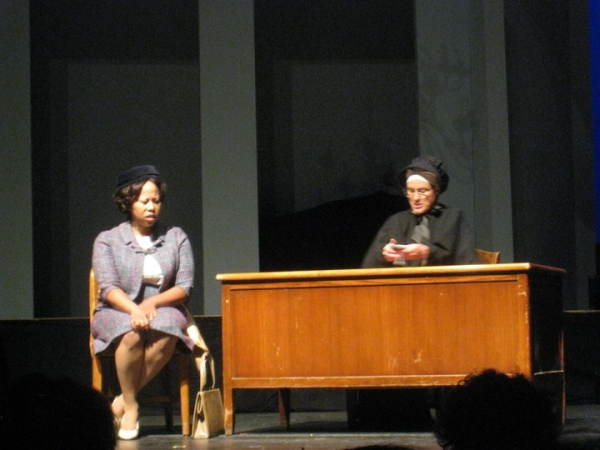 Alicia Haymer and Nan Gurley in a scene from Doubt