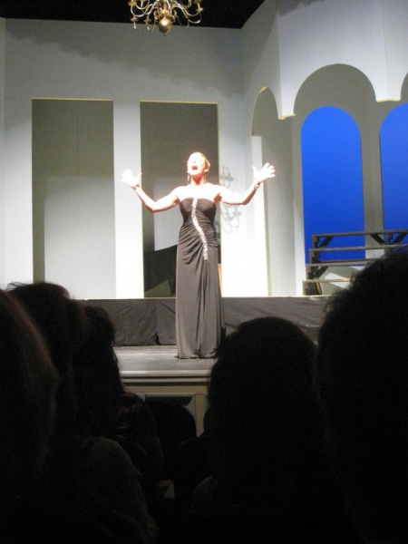 "Martha Wilkinson sings ""Defying Gravity."""