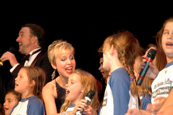 brad Little, Carter Calvert and the Lower Hudson Valley Youth Chorus
