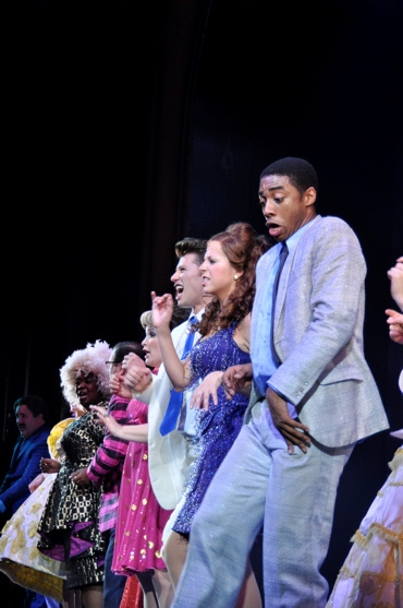 NaTasha Yvette Williams, Lee Roy Reams, Christine Danelson, Constantine Rousouli, Alex Ellis and Caliaf St. Aubyn at Sieber Opens in HAIRSPRAY at Paper Mill!