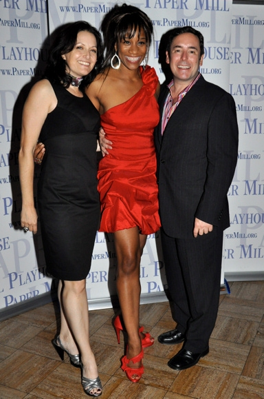 Michele Lynch, Judine Somerville  and Matt Lenz at Paper Mill Opens HAIRSPRAY - After Party