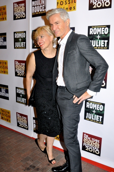 Catherine Martin and Baz Luhrmann at Luhrmann Opens NYMF 2010!