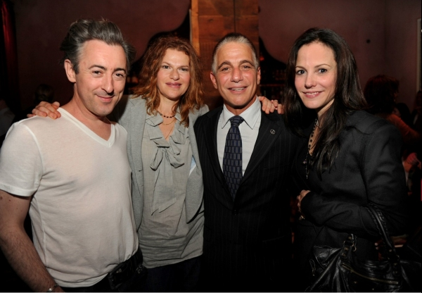 Alan Cumming, Sandra Berhardt, Tony Danza & Mary Louise Parker at Liza at The Rose Bar!