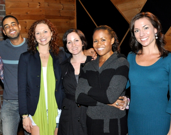 Jason Michael Webb (Musical Director), Kristen Beth Williams, Margot deLaBarre, Nikki Renee Daniels, and Wendi Bergamini