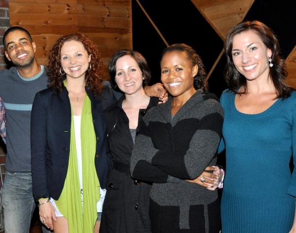 Jason Michael Webb (Musical Director), Kristen Beth Williams, Margot deLaBarre, Nikki Renee Daniels, and Wendi Bergamini
