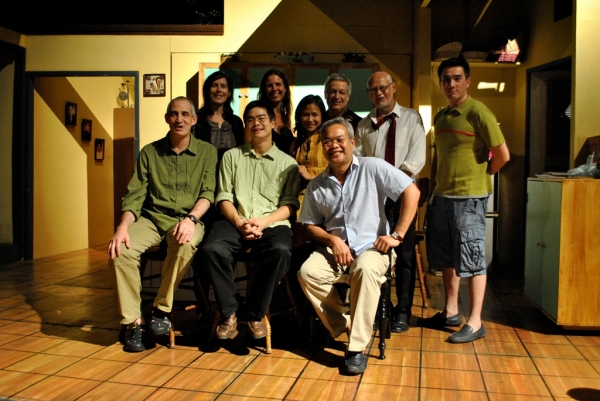 Group photo with Chris Millado, Mio Infante, Bembol Roco, Loretta Greco, Kate Loewald, Lloyd Suh, John Eisner
