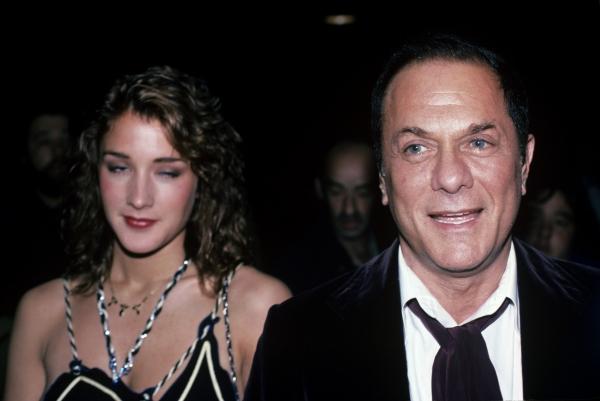 Tony Curtis and Andrea Savio , NYC, 1983 Photo