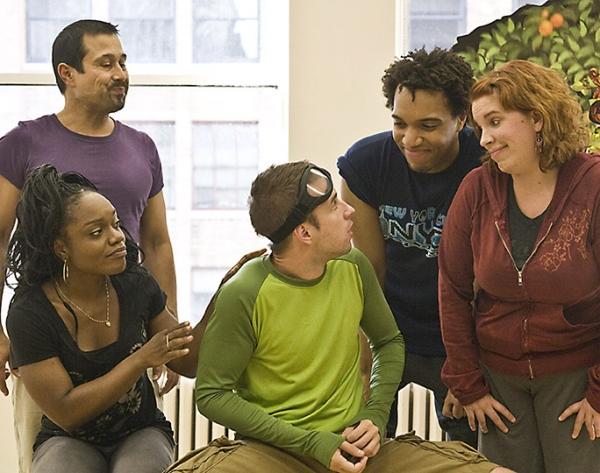 Kenita Miller, Herman Sebek, Jordan Barbour, Kate Pazakis (Center) Curtis Holbrook