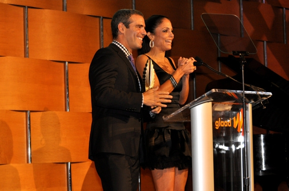 Andy Cohen and Bethenny Frankel at Batt and More at the 2010 GLAAD Media Awards