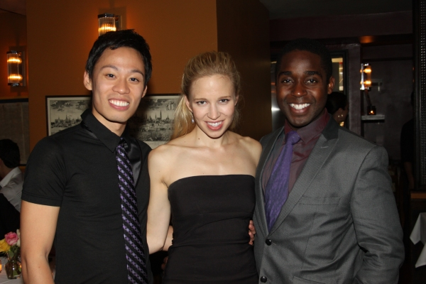 Andrew Cristi, Jessica Bislop and Mykal Kilgore at FRECKLEFACE STRAWBERRY Opening Night Party