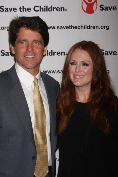 Mark Kennedy Shriver and Julianne Moore