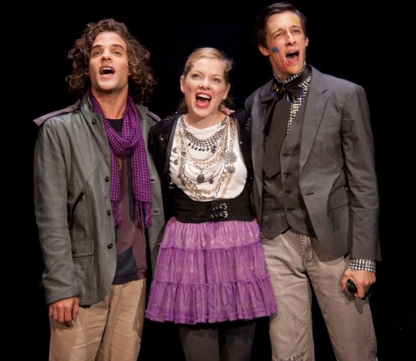 Zachary Clause as Toni-O, Jillian Louis as Kitty and Jason Michael Snow as Edward  Photo