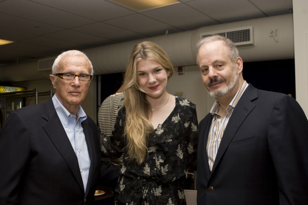 Producer Jerry Frankel, Lily Rabe and Producer Jeffrey Richards Photo