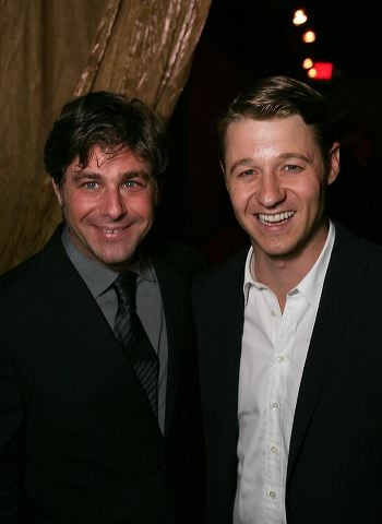 Glenn Slater (L) and actor Ben McKenzie