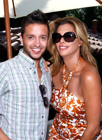 Queer Eye's Jai Rodriguez and LBGT celebrity Candis Cayne at 9th annual GLEH Garden Party honoring Adam Shankman and Rona Barrett