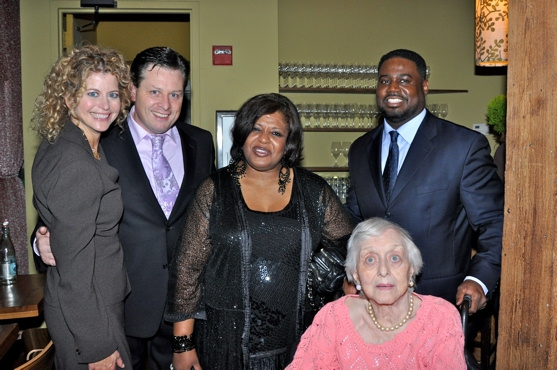 Laura Savini, Anthony Kearns, Alfreda Burke, Celeste Holm and Rodrick Dixon