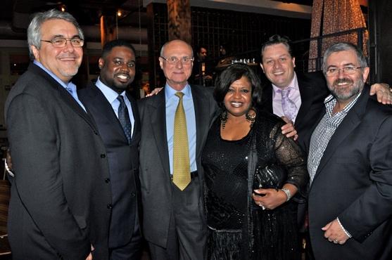 John Vernile (Product Manager Hallelujah Broadway), Rodrick Dixon, Ian Ralfini (A&R Hallelujah Broadway), Alfreda Burke, Anthony Kearns and Bill Hughs