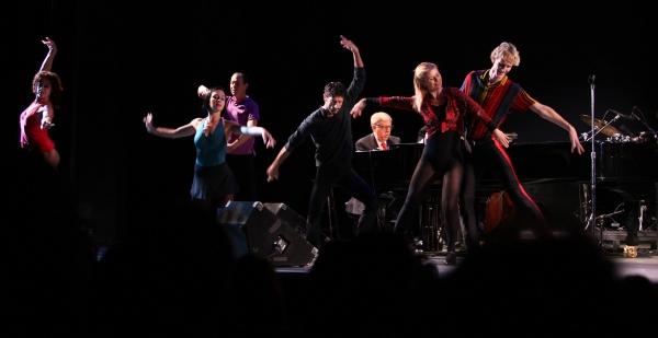 Marvin Hamlish with A CHORUS LINE ensemble
